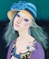 Happy Life-Blue Rose Hat